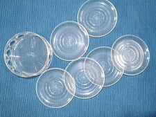 50er 60er Untersetzer für Gläser Kunststoff mit Ständer Plastik vintage Revolite
