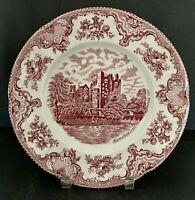 Johnson Bros Old Britain Castles Pink /Red Dinner Plate Blarney Castle NEW