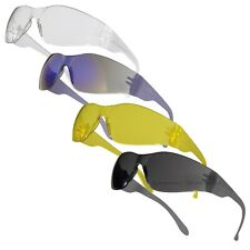 Safety Glasses Eye Protection PPE Work Specs Clear Yellow Smoke Mirror Lens