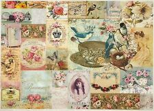 Rice Paper for Decoupage Decopatch Scrapbook Craft Sheet Birds Romance