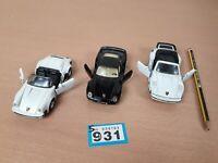 1990s VINTAGE Large DIECAST CARS bundle MAISTO Metal PORSCHE 911 Carrera