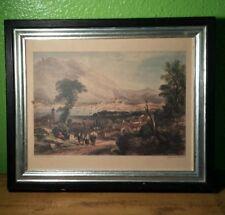 Atq Litho Paper Mediterra Lake Como Italy Engrave A. Willmore Artist Geo Barnard