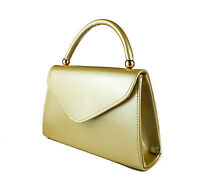 Women's Shiny Patent Envelope Style Evening Clutch Bag Small Handbag With Handle