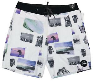 Quiksilver Tropical Surfing Print Men's Beach Board Shorts Bathing Suit NWT