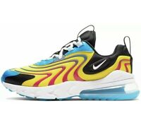 Nike Air Max 270 React ENG (GS) Youth Size 7 Yellow White Blue CD6870-700 New
