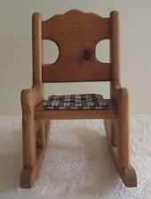 """Wood Wooden Doll Rocking Chair Toy Toys 12"""" x 11"""""""