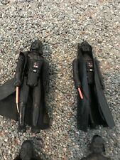 darth vader vintage figures 8 2 with light sabers in used condition