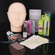 Mannequin Training Makeup False Eyelashes Extension Glue Patch Practice Tool Kit