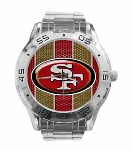 NFL (SAN FRANCISCO 49ERS) NEW CUSTOM CASUAL STAINLESS STEEL QUARTZ WRIST WATCH