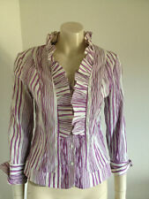 Cotton Blend Evening, Occasion Long Sleeve Button Down Shirt Tops & Blouses for Women