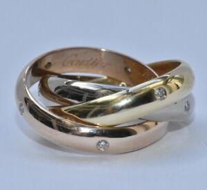 Cartier Trinity Diamond Ring 18k
