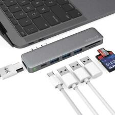 Multiport Hub with Dual USB-C Multi-function Connectors Adapter Apple Macbook Do