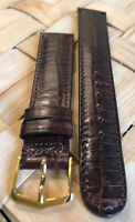 Genuine ESQ by MOVADO 20mm Brown Padded Calf Skin Watch Band Strap Retail $45.00