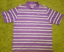 Mens Nike Golf Purple Stripe Dri Fit Tour Pro Polo Shirt Size XL