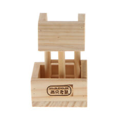 Wood Lookout Tower Platform Station Exercise Toy for Pet Rat Hamster Mouse