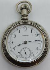 "Antique Working 1904 NEW YORK STANDARD ""Edgemere"" Private Label Pocket Watch 18s"