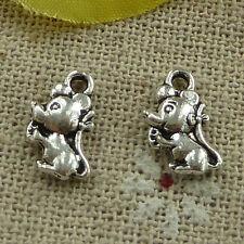 free ship 600 pcs tibetan silver mouse charms 12x7mm #3306