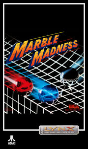 Atari Lynx - Marble Madness - game cartridge + ( cover for VHS Box )