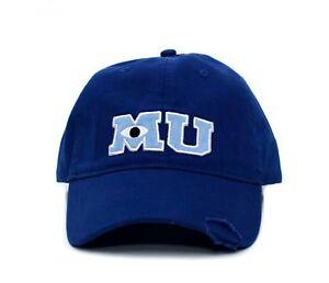 New Monsters MU University Hat Applique Royal Blue Baseball Cap Adult Curved Hat