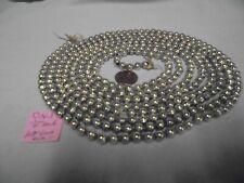 "Christmas Garland Mercury Glass Chartreuse 107"" Log 1/4"" Beads Dn 3 Vintage"