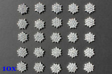 Wholesale 10x Sparking Rhinestone Buttons Diamante Embellishment DIY Craft 16mm