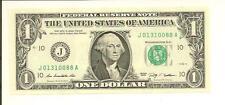 JANUARY 31, 88 ... BIRTHDAY NOTE ... 2009..CU $1  J 0131 0088 A .... 01/31/0088