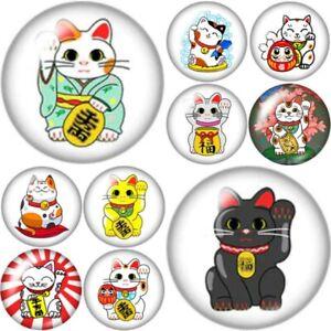 Cat Magnet Fridge Gift Lucky Chinese Cat Lover Kitten Kitchen Decor Handmade (TE