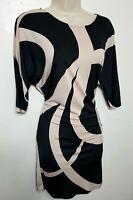 PHASE EIGHT JERSEY DRESS TUNIC UK 12 BLACK PINK