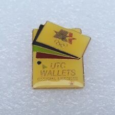 """1984 Los Angeles Olympics LAOOC Sponsor Pin """"UTC Wallets"""" Official Licensee"""
