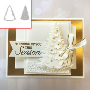 Christmas Tree Metal Cutting Dies DIY Scrapbooking Paper Cards Craft Stencil P