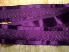 "2"" Wide Satin Edge Moire' Ribbon - Japan - Revers. Deep Purple / Plum"