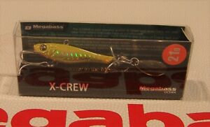 """WOW! Megabass X-CREW 21g  """"G CHART GOLD"""" Color FREE SHIPPING"""