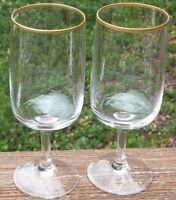 "LOT OF 2   FOSTORIA  REHEARSAL  WINE GLASSES   6 1/8"" high   2 1/8"" across top"