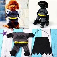 Batman Teddy Clothes Pet Clothing Jacket Cute Outfit Custume Dog Puppy