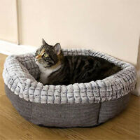 Cat Bed 40 Winks Soft Tweed And Luxury Plush Small Pet Dog Bed Machine Washable