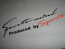 Black & Red Sport Mind Auto Car Truck Vinyl Decor Graphics Art Decal Sticker USA