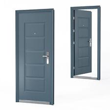 Haustür Tür Wohnungstür Sicherheitstür 96 x 205 cm Anthrazit DIN Rechts
