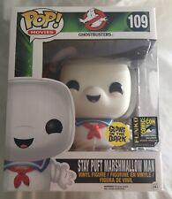"Funko POP Ghostbusters STAY PUFT MARSHMALLOW MAN Glow In Dark 6"" SDCC 2014 Exclu"