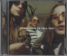 HAIM SOMETHING TO TELL YOU FULLY SIGNED CD ALBUM BY ALL 3