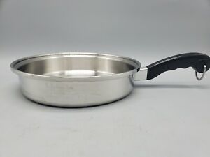 """SALADMASTER USA 18-8 Tri-Clad Stainless Steel 11"""" Skillet (no lid) CLEAN & SHINY"""
