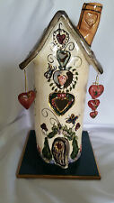 Heather Goldminc Blue Sky Clayworks Large Hearts Tea Light House Valentines