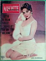 GINA LOLLOBRIGIDA - MASCOTTE,R@R@ RIVISTA DI SPETTACOLO-N.7 del 1961-RIF.7968