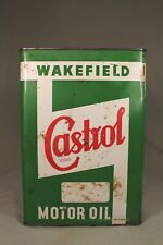 Vintage WAKEFIELD CASTROL One Gallon Oil Tin