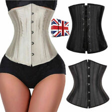 24 Steel Boned Tight Lace Up Underbust Waist Training Corset Trainer Body Shaper