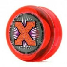 Yomega Power Brain XP Red and Clear Yo Yo + 3 FREE NEON STRINGS YELL/ORG/GREEN