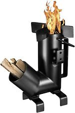 Bruntmor Camping Rocket Stove With Handle Campfire Cooking Wood Burning Stove