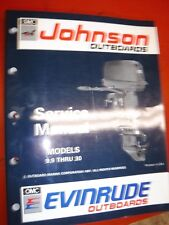1992 JOHNSON/EVINRUDE  EN  9.9 THRU 30 OUTBOARDS ORIGINAL FACTORY SERVICE MANUAL