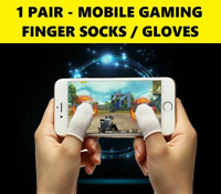 Mobile Gaming Finger Claw Socks Gloves Touch Screen Sleeve PUBG Fortnite x1 Pair