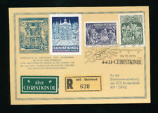 Christkindl-Reco-Karte 24.12.1970 mit blauer Vignette  (CH21)