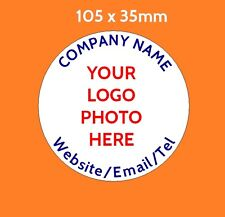 Personalised Business Stickers 105 x 35mm round Stickers